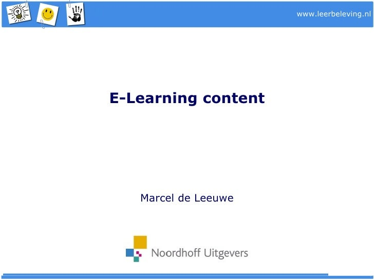E Learning Content