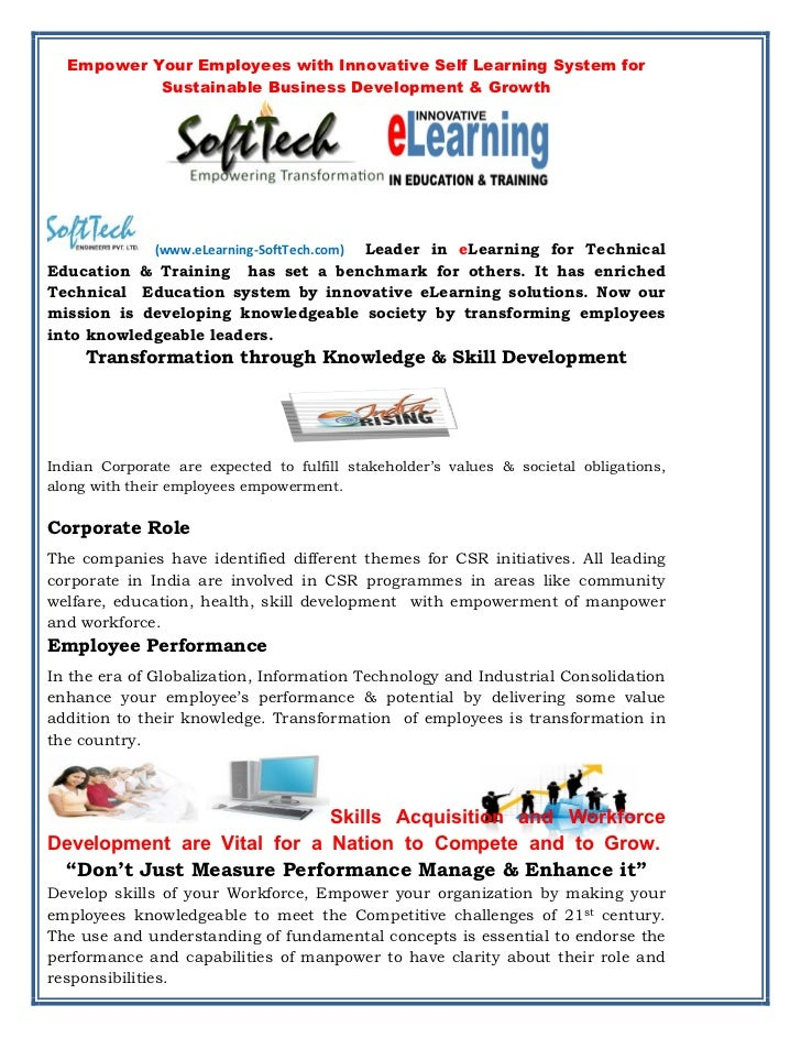 E learning corporate gift  brochure