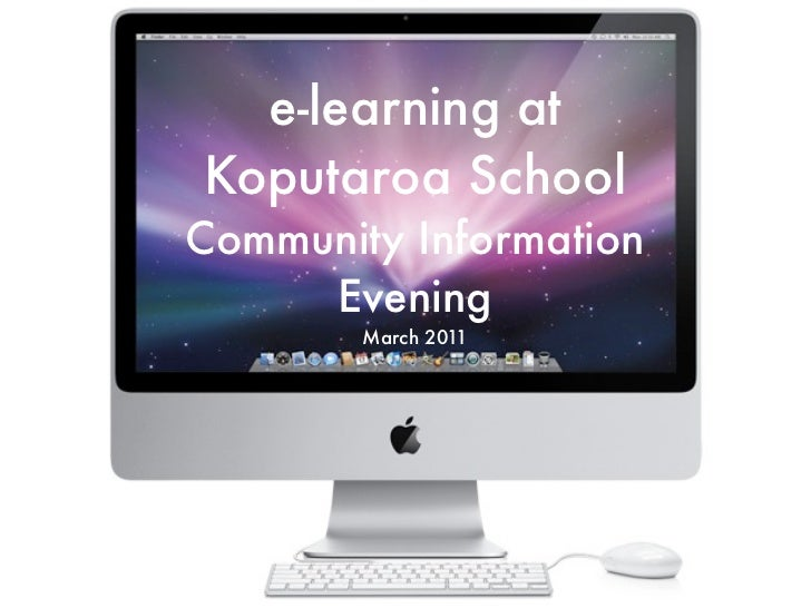 E-Learning Community Meeting