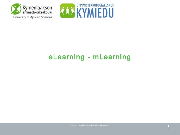 eLearning - mLearning