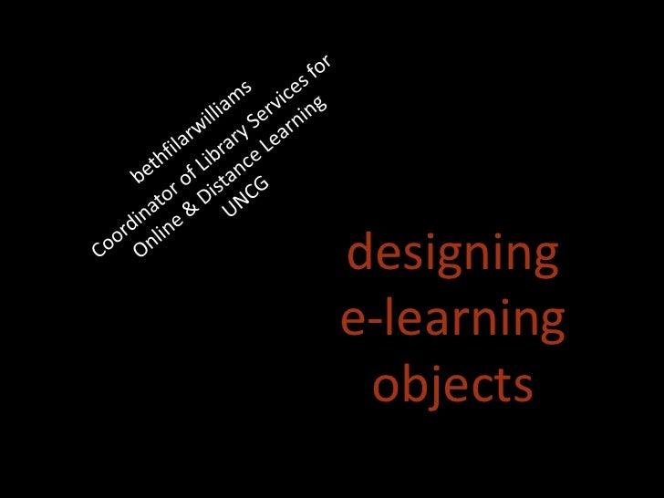designinge-learning objects