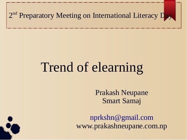 International Literacy Day : Elearning Trends