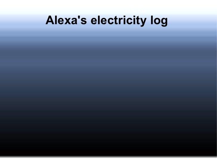 alexaAlexas electricity log