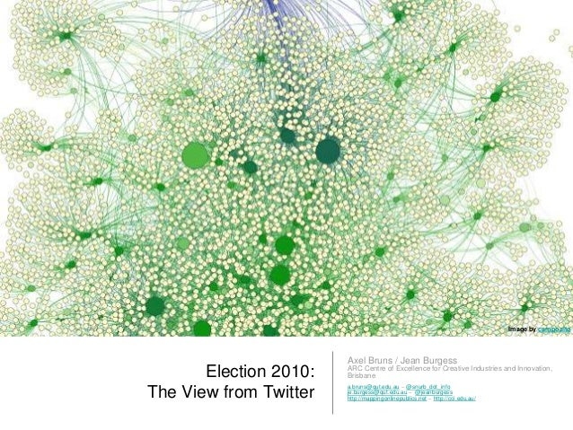 Election 2010: The View from Twitter Axel Bruns / Jean Burgess ARC Centre of Excellence for Creative Industries and Innova...