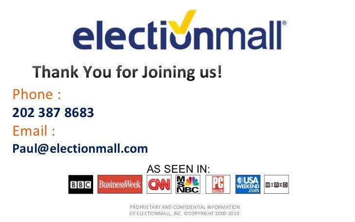 ElectionMall Campaign Cloud Webinar