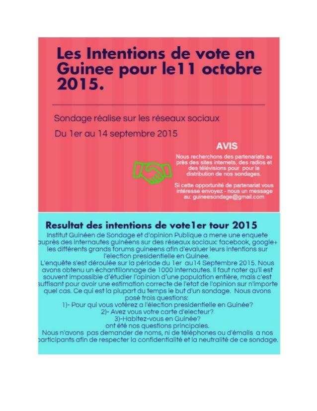 Election presidentielle en guinee