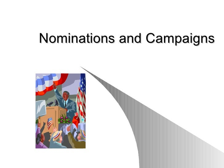 Elections, Nominations & Voting Revised