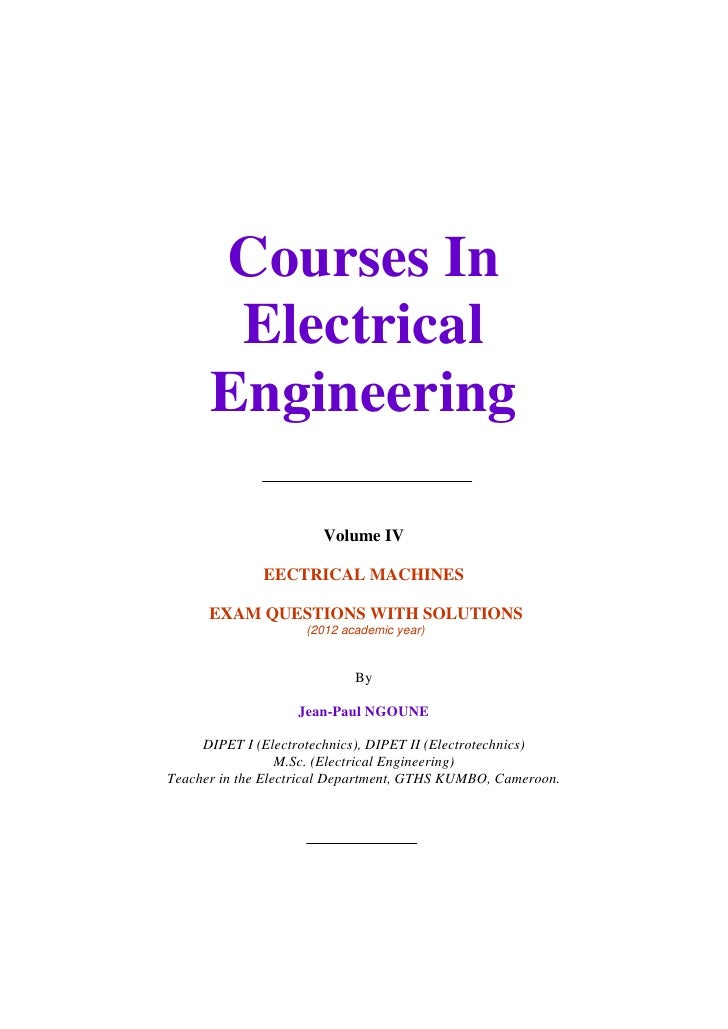 Courses In                    Electrical                   Engineering                                      Volume IV     ...