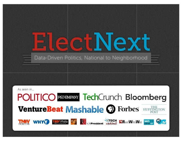 Data-Driven Politics, National to NeighborhoodAs seen in...