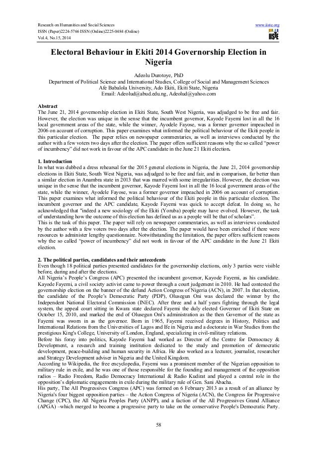 Research on Humanities and Social Sciences www.iiste.org ISSN (Paper)2224-5766 ISSN (Online)2225-0484 (Online) Vol.4, No.1...