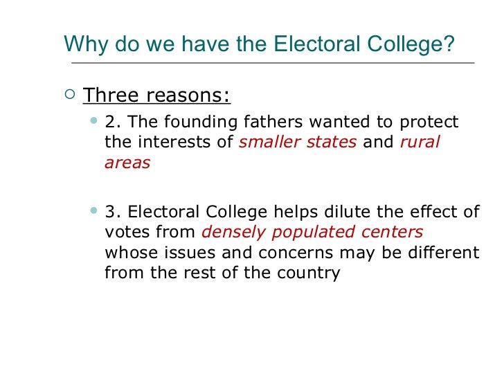 an analysis of electoral college