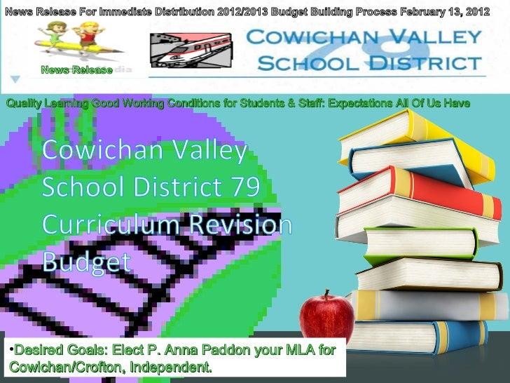 Elect p. anna paddon mla cowichan crofton may 14 2013 education budget sd79 09 05 2012