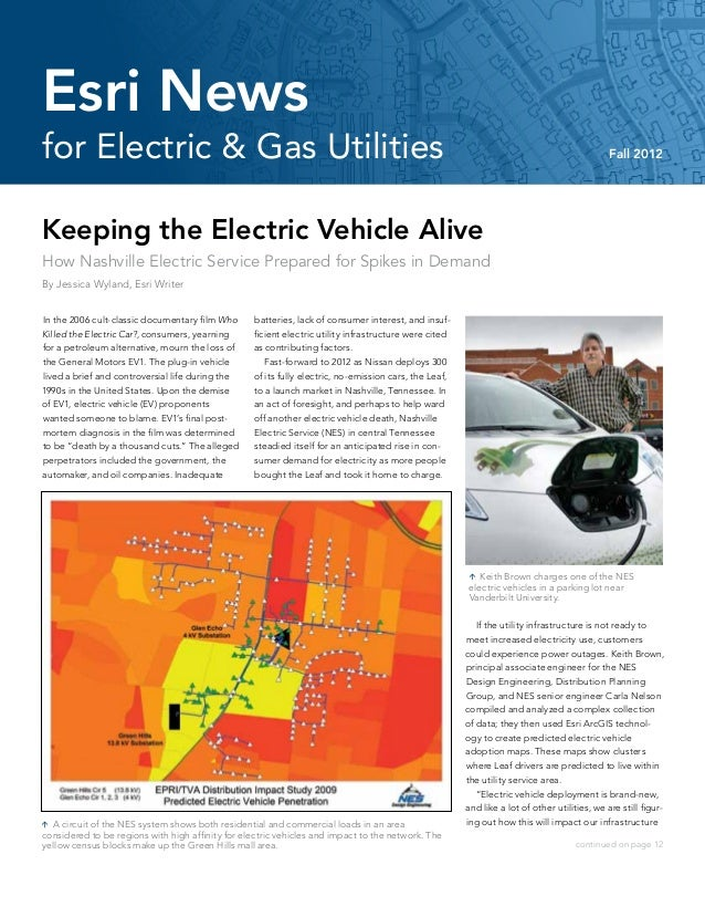 Esri News for Electric & Gas Utilities -- Fall 2012