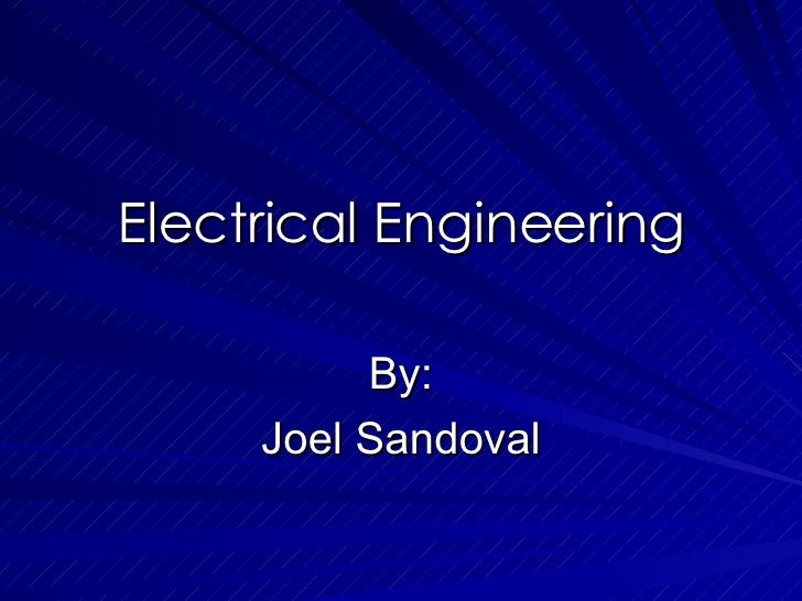 Electrical Engineering Presentation