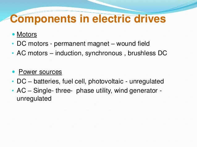 Electric Motor Components Components in Electric Drives