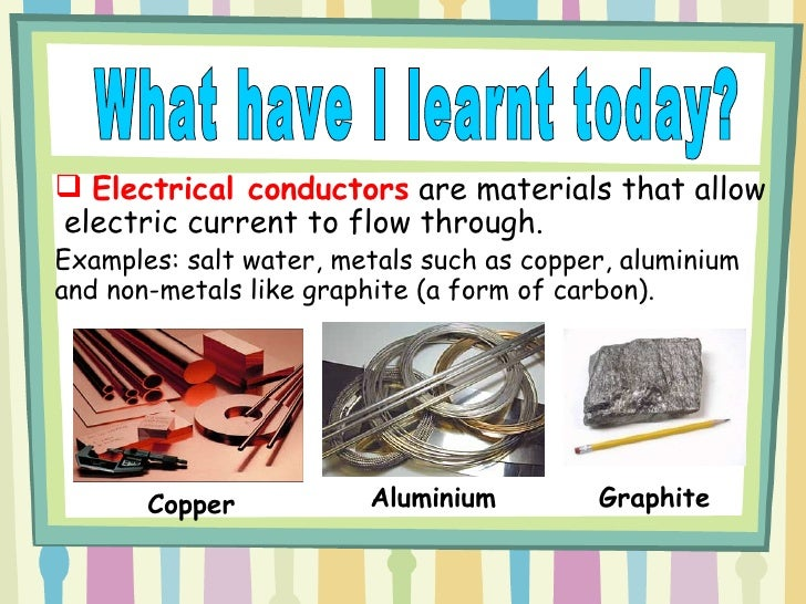 Examples Of Conductors And Insulators : Electrical conductors and insulators