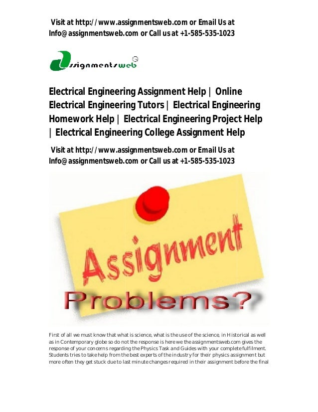 Electrical engineering coursework help