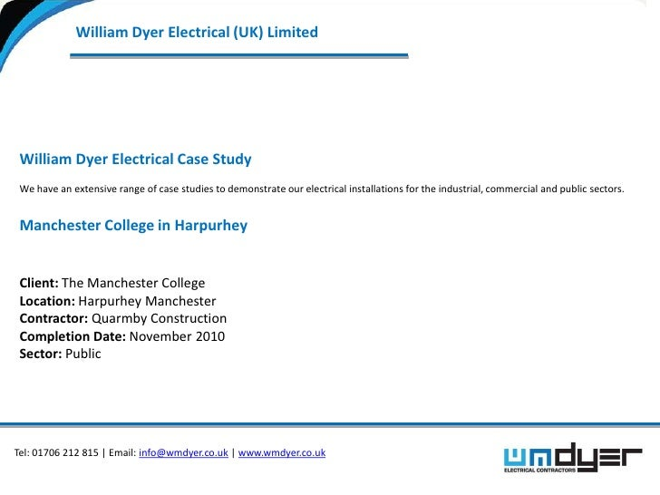 Electrical installation contract for the Education sector  Manchester college case study by William Dyer Electrical