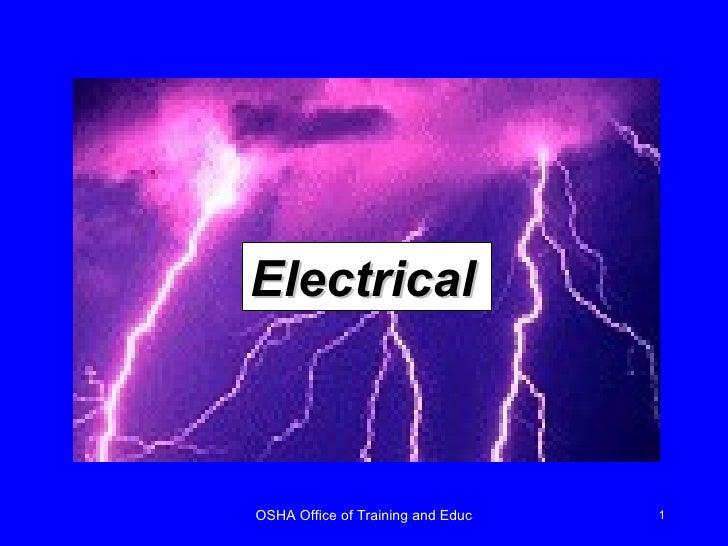 Electrical Osha