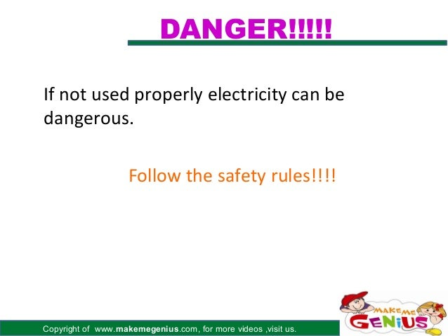 DANGER!!!!!If not used properly electricity can bedangerous.                    Follow the safety rules!!!!Copyright of ww...