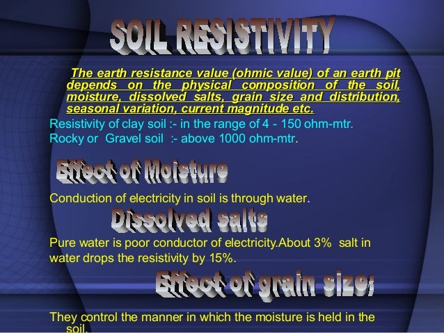 Earth Resistance Value For Earth Pit The Earth Resistance Value