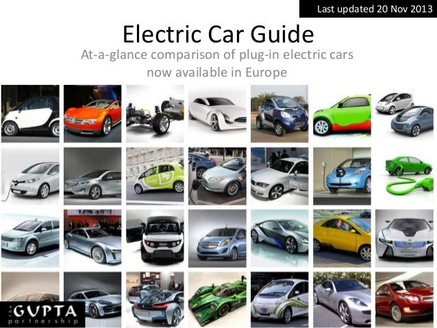 A comparison of performance and specification of electric cars available in Europe