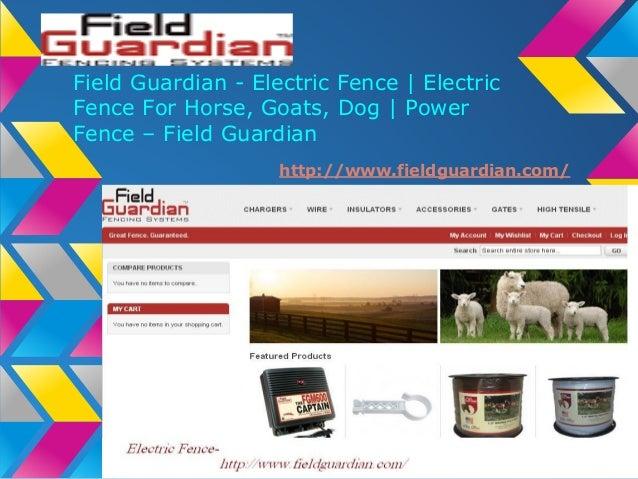 Electric fence   www.fieldguardian.com