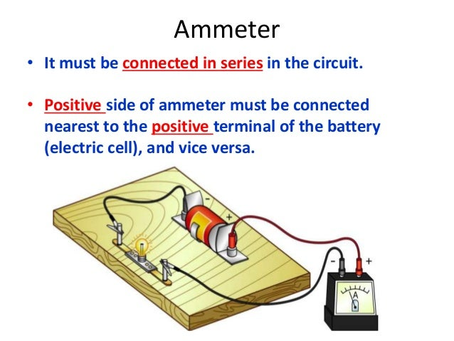 Where Are Ammeters Connected : Electric field circuit and current