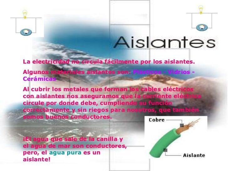 Electricidad 4 - El material aislante ...