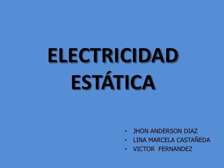 Electricidad estatica for Electricidad