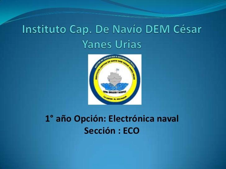 1° año Opción: Electrónica naval         Sección : ECO