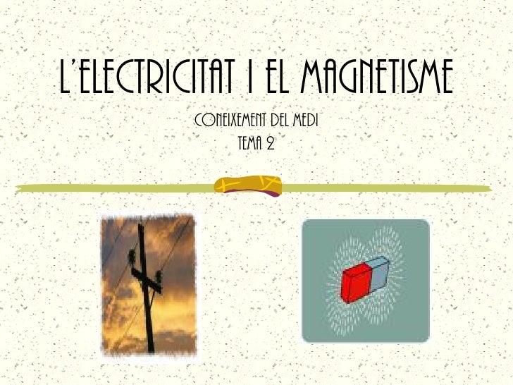 L'ELECTRICITAT I EL MAGNETISME           Coneixement del medi                 Tema 2
