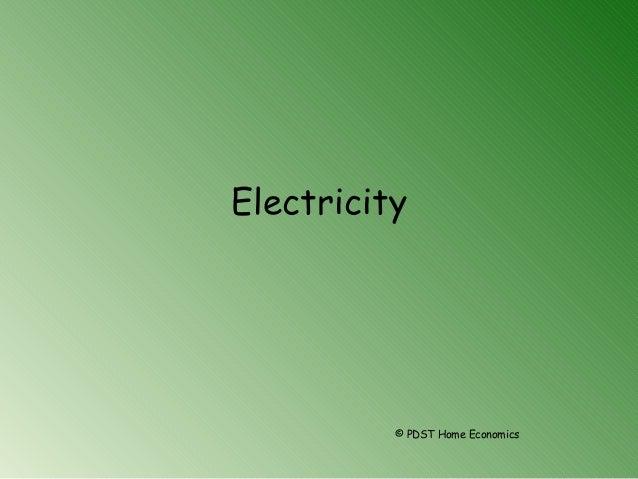 Electricity © PDST Home Economics