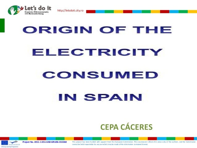 Electricity production mix Spain Grundtvig CERE