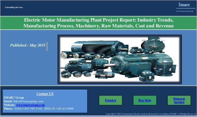 Electric Motor Market Prices Manufacturing Plant Report