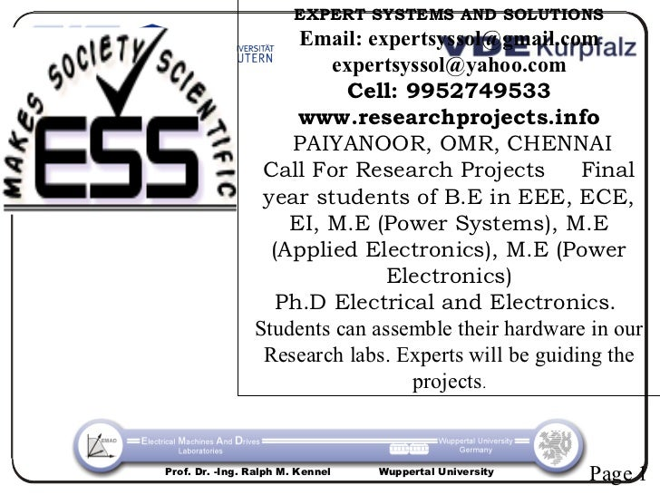 EXPERT SYSTEMS AND SOLUTIONS                     Email: expertsyssol@gmail.com                        expertsyssol@yahoo.c...