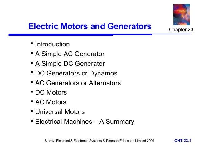 Electric motors and generators for Dc generators and motors