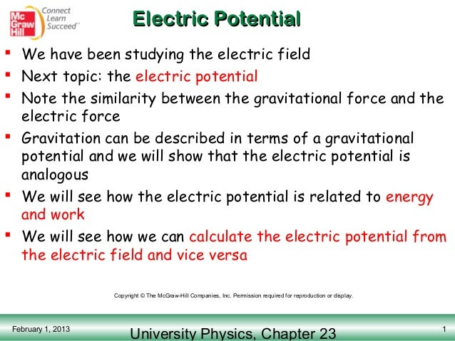 Electric potential