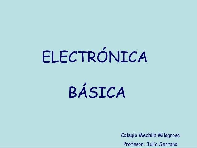 Conceptos basicos de Electronica Basica