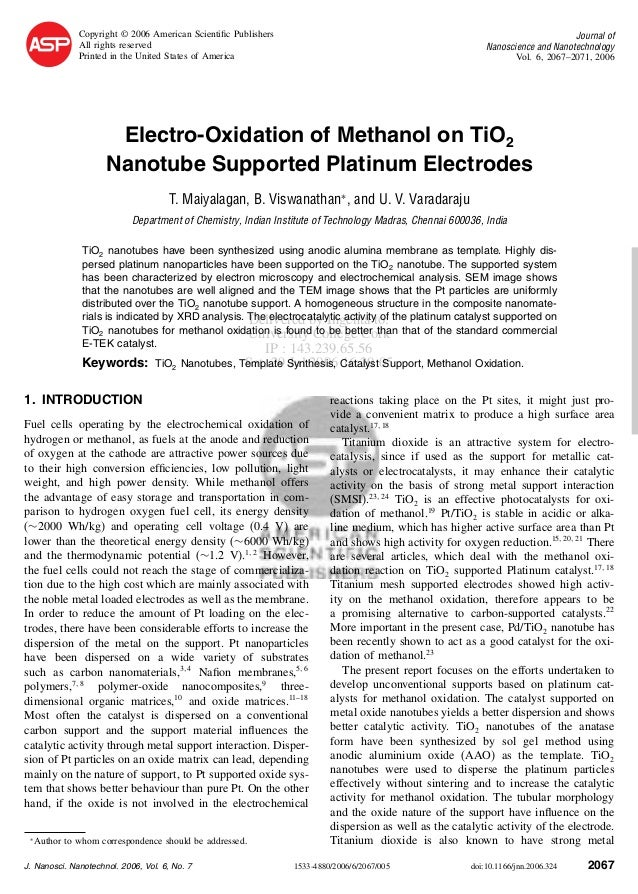 Copyright © 2006 American Scientific Publishers All rights reserved Printed in the United States of America  Journal of Nan...