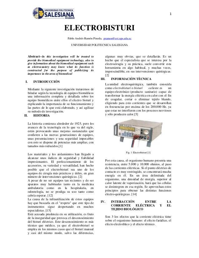 1                                  ELECTROBISTURI                                     Pablo Andrés Ramón Pineda, pramon@es...