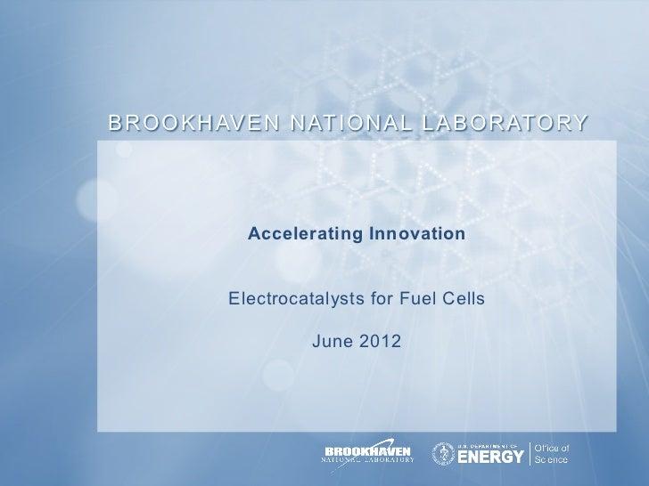 B R O O K H AV E N N AT I O N A L L A B O R ATO RY              Accelerating Innovation            Electrocatalysts forPla...