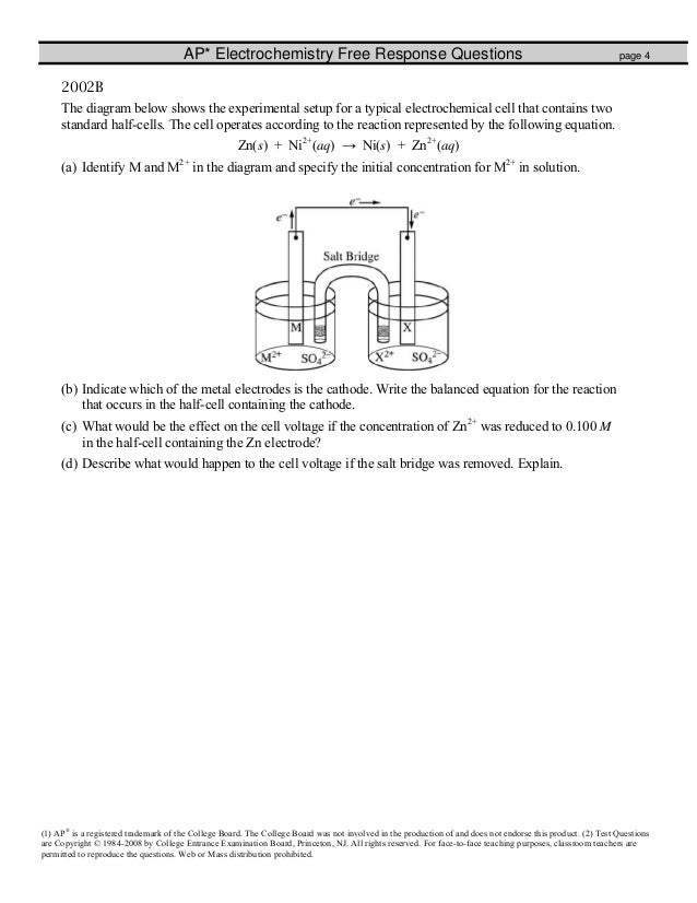electrochemistry fr worksheet. Black Bedroom Furniture Sets. Home Design Ideas