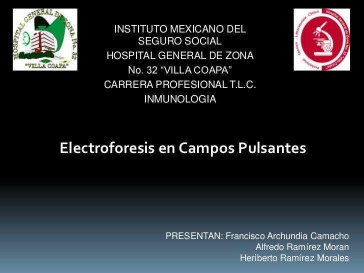 "INSTITUTO MEXICANO DEL           SEGURO SOCIAL      HOSPITAL GENERAL DE ZONA          No. 32 ""VILLA COAPA""      CARRERA PR..."