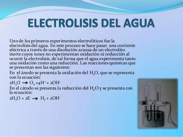 Resultado de imagen para electrolisis del agua