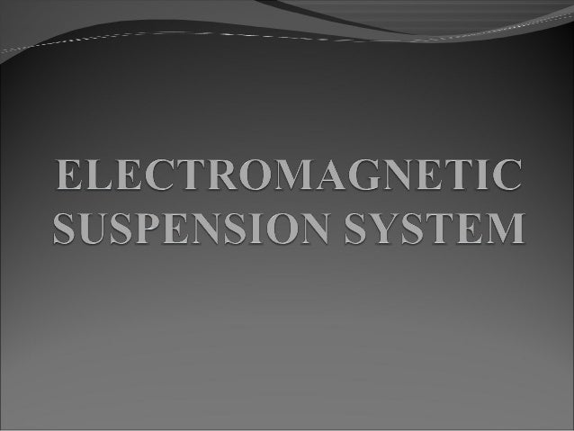 BACKGROUND  In 1966 Danby and Powell proposed an EDS system  for high-speed transportation using super conducting magnets...