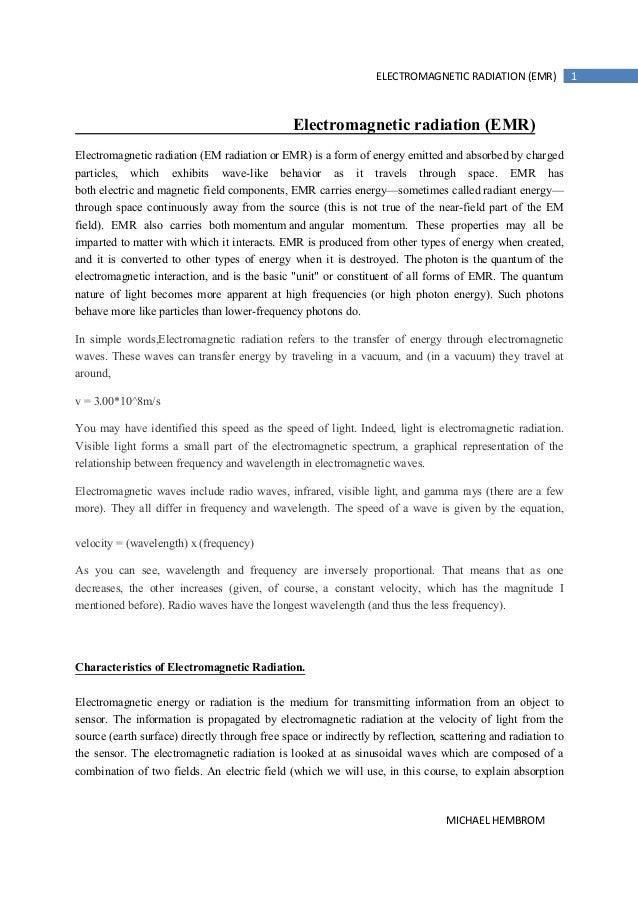 ELECTROMAGNETIC RADIATION (EMR)              1                                               Electromagnetic radiation (EM...