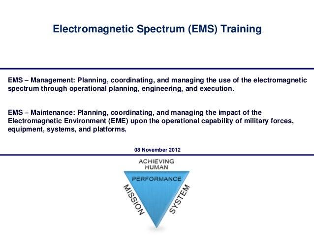Managing Electromagnetic Spectrum Training