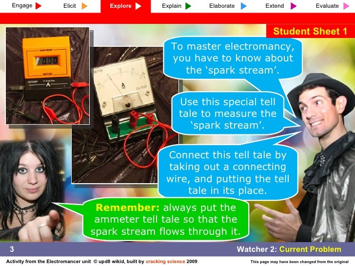To master electromancy, you have to know about the 'spark stream'. Use this special tell tale to measure the 'spark stream...
