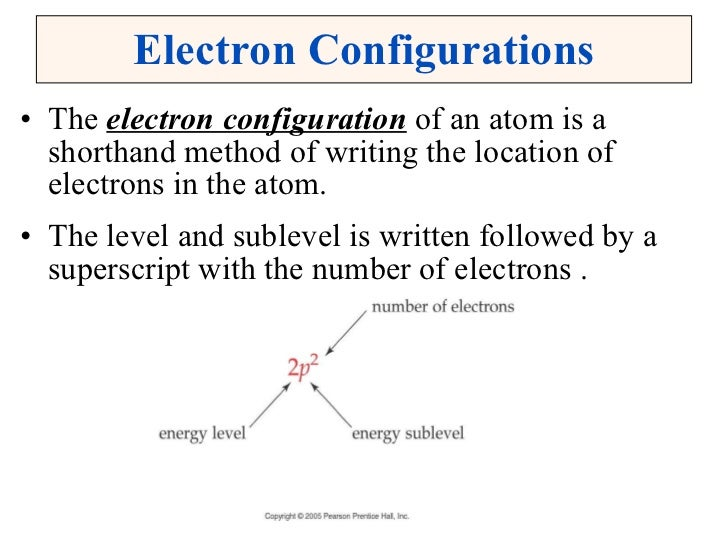 essay on electron configuration The general rule is that the element's electron configuration ends in d and whatever place they are in scandium all our essays are custom-written according to.